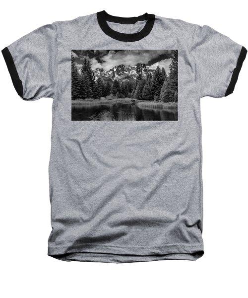 Moose At Schwabacher's Landing Baseball T-Shirt
