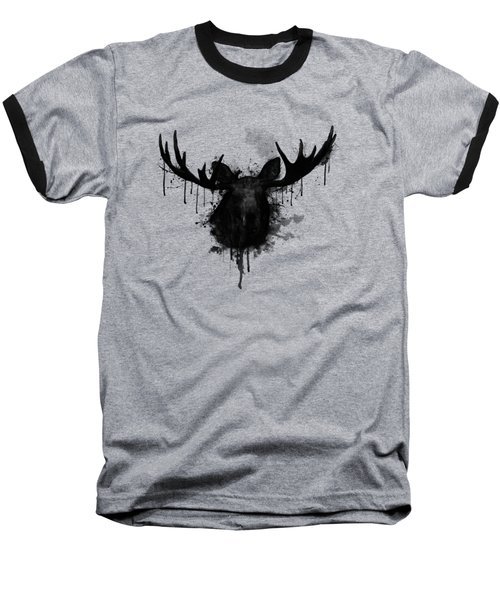 Baseball T-Shirt featuring the drawing Moose by Nicklas Gustafsson