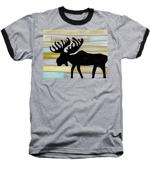 Baseball T-Shirt featuring the digital art Moose by Paula Brown
