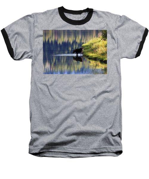 Moose Reflecting Baseball T-Shirt