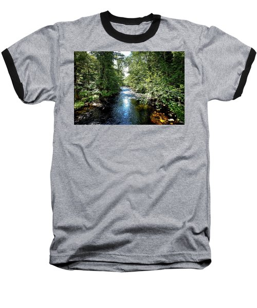 Baseball T-Shirt featuring the photograph Moose River At Covewood by David Patterson
