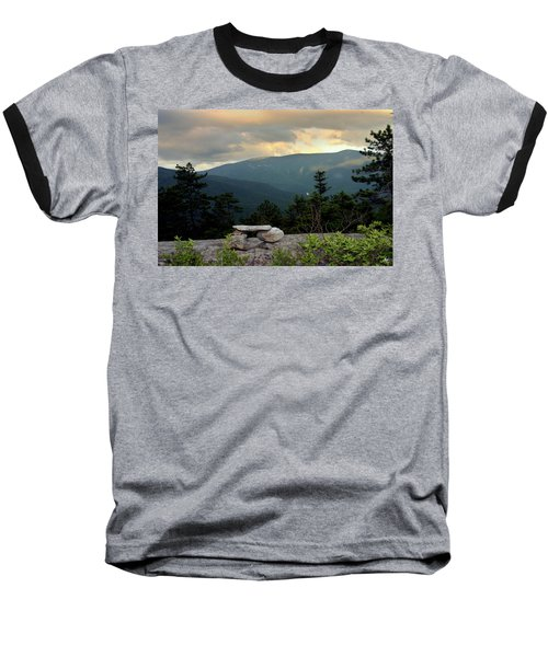 Moosilaukee View From Bench On Blueberry Mt. Baseball T-Shirt