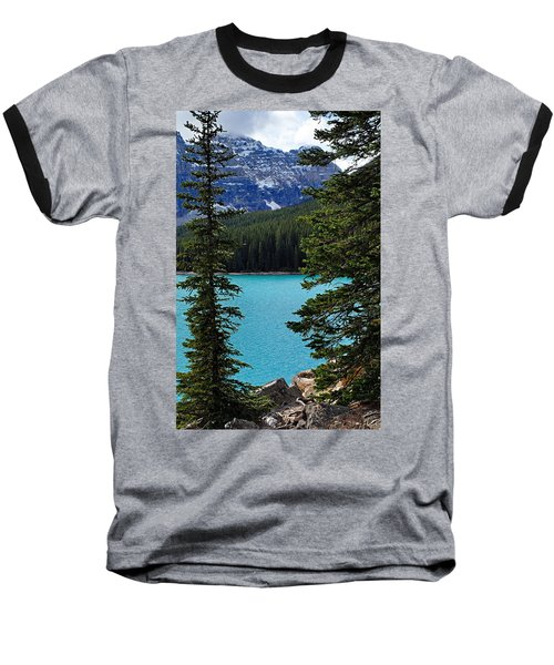 Moraine Lake 3 Baseball T-Shirt