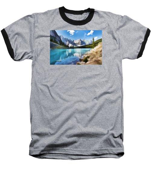 Moraine Lake At Banff National Park Baseball T-Shirt by Lanjee Chee