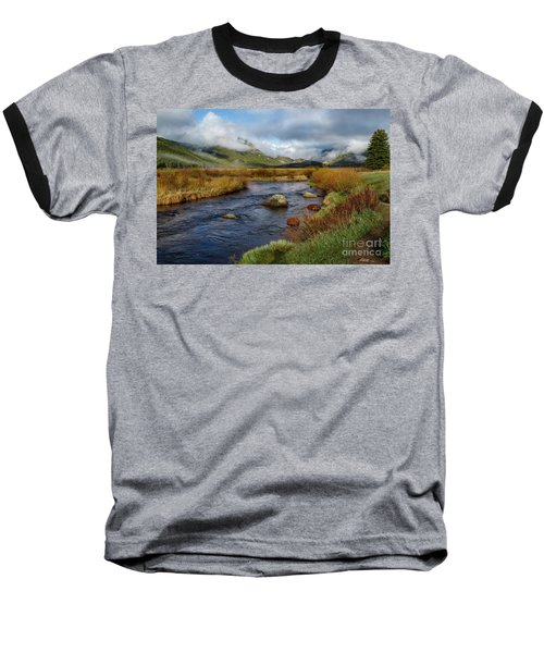 Moraine Park Morning - Rocky Mountain National Park, Colorado Baseball T-Shirt by Ronda Kimbrow