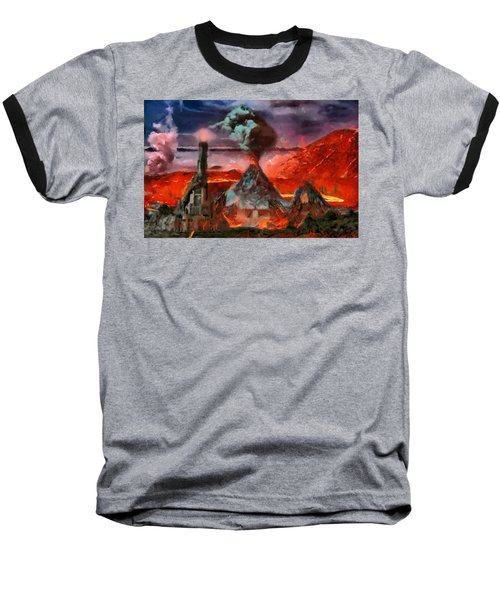 Mordor Panorama Baseball T-Shirt