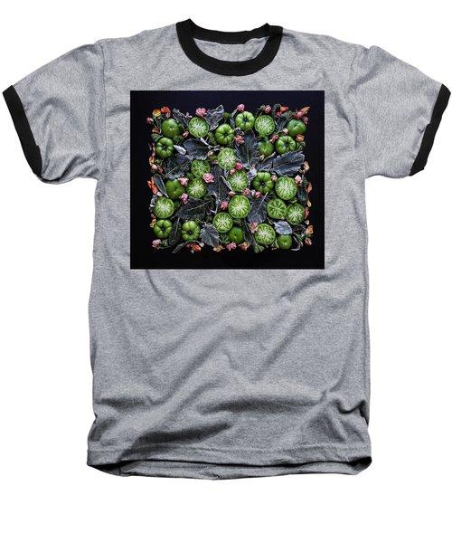 More Green Tomato Art Baseball T-Shirt