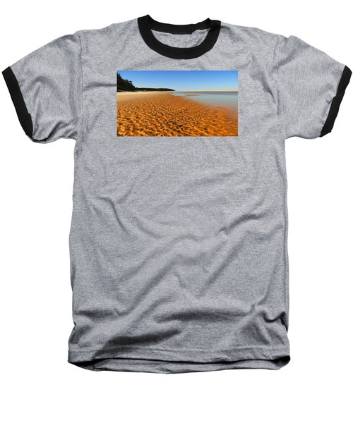 Baseball T-Shirt featuring the photograph More Sand 01 by Kevin Chippindall