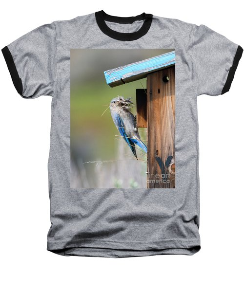 Baseball T-Shirt featuring the photograph More Than Mouthful by Mike Dawson