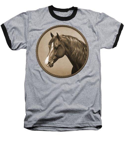 Morgan Horse Phone Case In Sepia Baseball T-Shirt