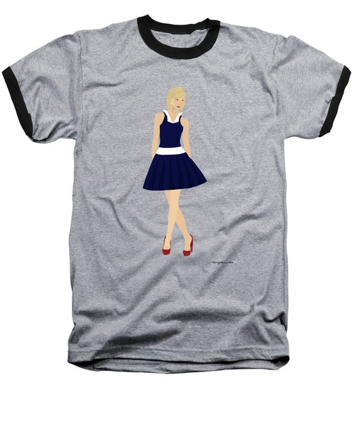 Baseball T-Shirt featuring the digital art Morgan by Nancy Levan