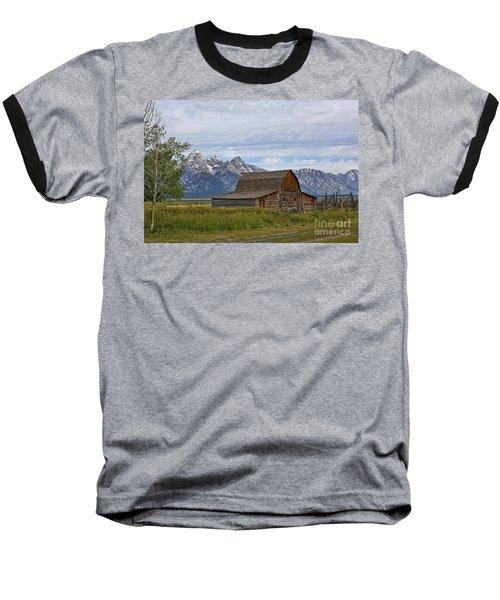 Mormon Row Barn And Grand Tetons Baseball T-Shirt