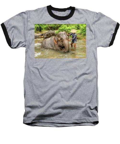 Morning Ablutions 4 Baseball T-Shirt by Werner Padarin