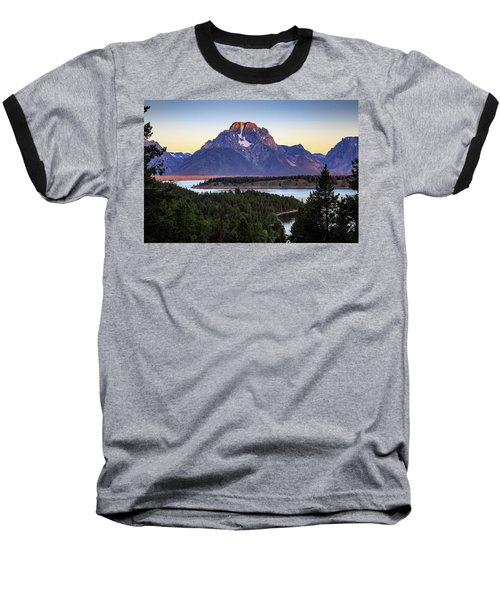 Morning At Mt. Moran Baseball T-Shirt