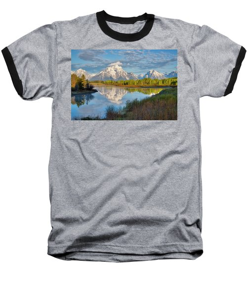 Morning At Oxbow Bend Baseball T-Shirt