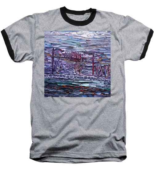 Baseball T-Shirt featuring the painting Morning At Sayreville by Vadim Levin