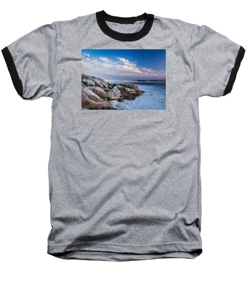 Morning At The Beach Baseball T-Shirt