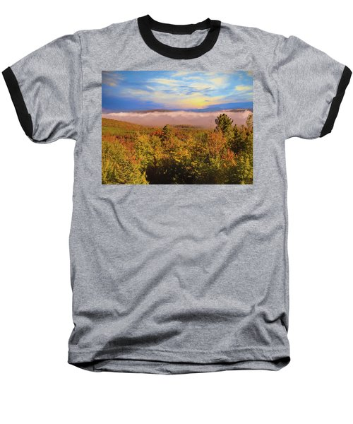 Morning Autumn Landscape Northern New Hampshire Baseball T-Shirt