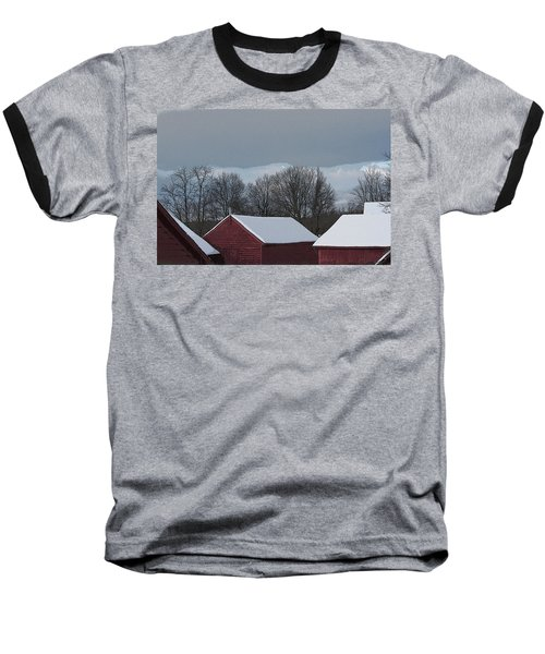 Morning Barnscape Baseball T-Shirt
