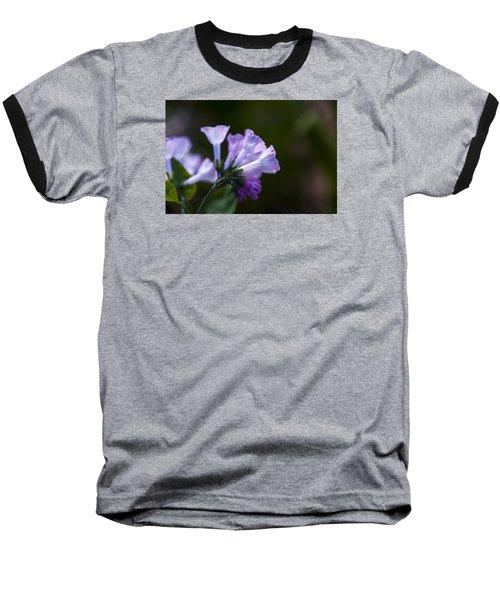 Morning Bluebells Baseball T-Shirt by Dan Hefle