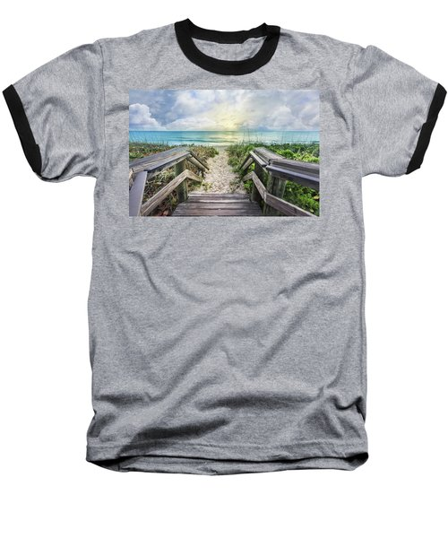Baseball T-Shirt featuring the photograph Morning Blues At The Dune by Debra and Dave Vanderlaan