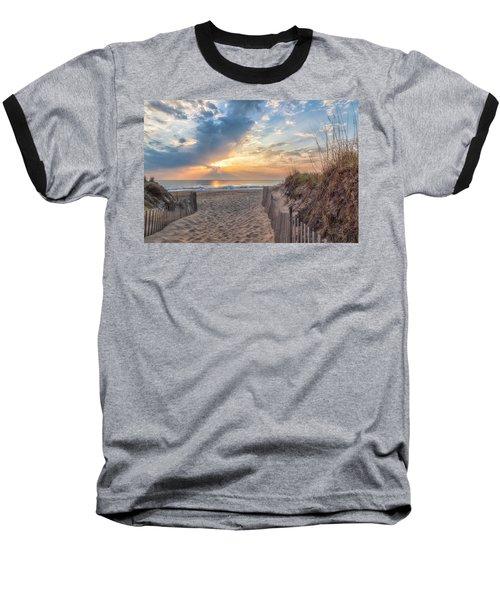 Morning Breaks Baseball T-Shirt by David Cote