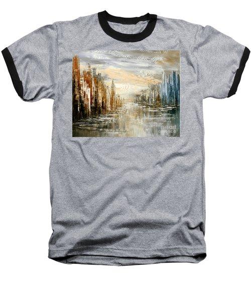 Morning By The Sea Baseball T-Shirt by Tatiana Iliina
