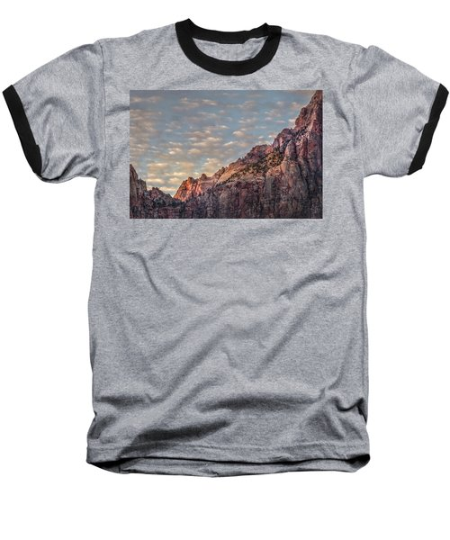 Baseball T-Shirt featuring the photograph Morning Clouds by James Woody