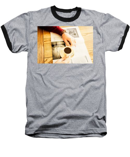 Morning Coffee Baseball T-Shirt by Cesare Bargiggia