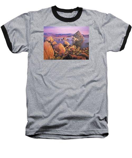 Morning Colors At Lake Pyramid Baseball T-Shirt by Donna Tucker