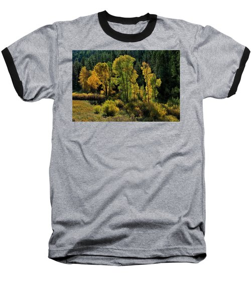 Morning Cottonwoods Baseball T-Shirt