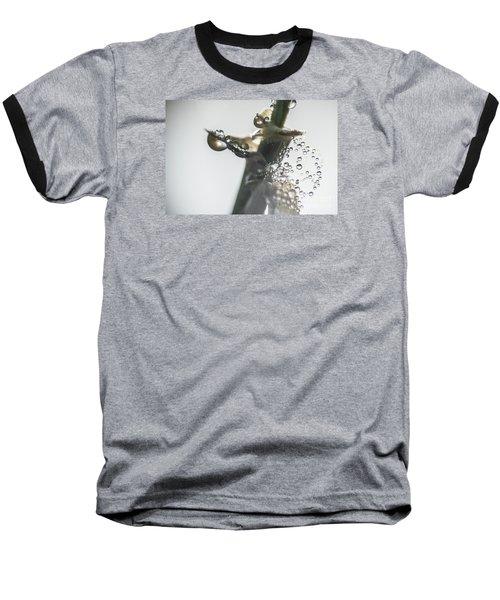 Morning Dew On A Web Baseball T-Shirt by Odon Czintos