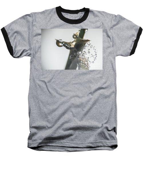 Morning Dew On A Web Baseball T-Shirt