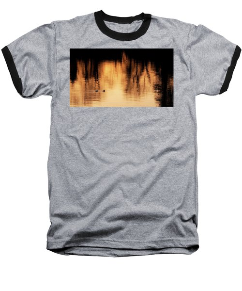 Baseball T-Shirt featuring the photograph Morning Ducks 2017 by Bill Wakeley