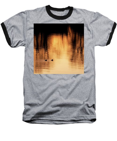 Baseball T-Shirt featuring the photograph Morning Ducks 2017 Square by Bill Wakeley