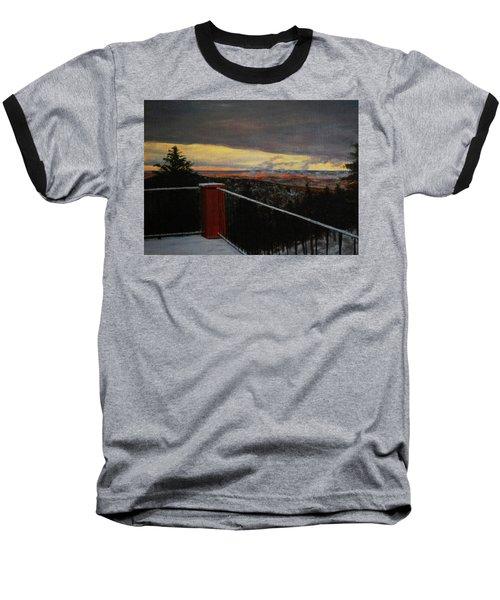 Morning Dusting Above Boulder Baseball T-Shirt