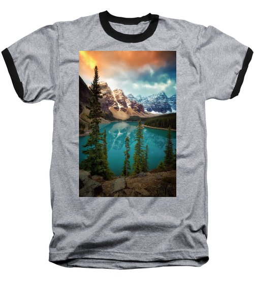 Morning Eruption  Baseball T-Shirt by Nicki Frates