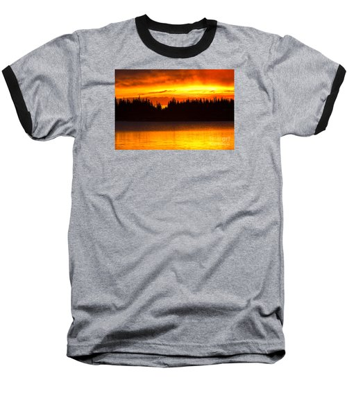 Baseball T-Shirt featuring the photograph Morning Fire by Aaron Whittemore