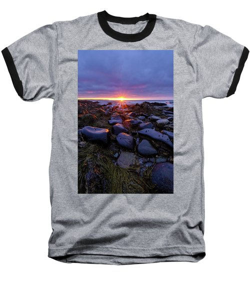 Morning Fire, Sunrise On The New Hampshire Seacoast  Baseball T-Shirt