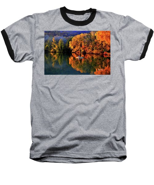 Morning Fishing On Lake Winona Baseball T-Shirt