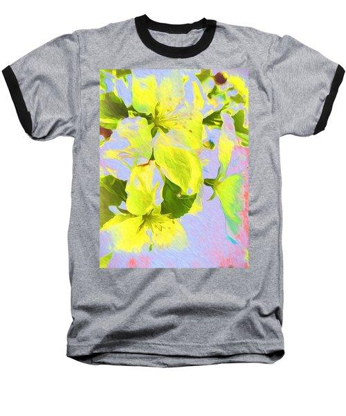 Morning Floral Baseball T-Shirt by Kathy Bassett