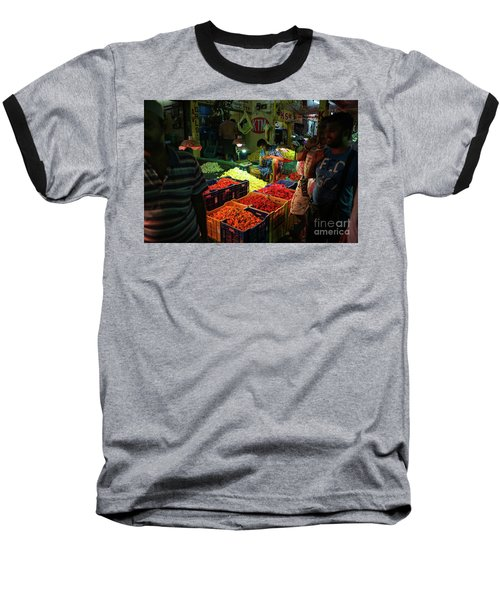 Baseball T-Shirt featuring the photograph Morning Flower Market Colors by Mike Reid