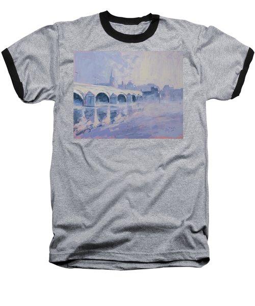 Morning Fog Around The Old Bridge Baseball T-Shirt
