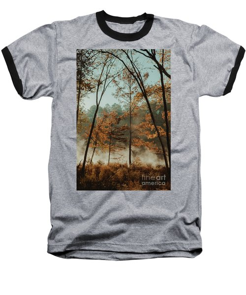 Morning Fog At The River Baseball T-Shirt by Iris Greenwell