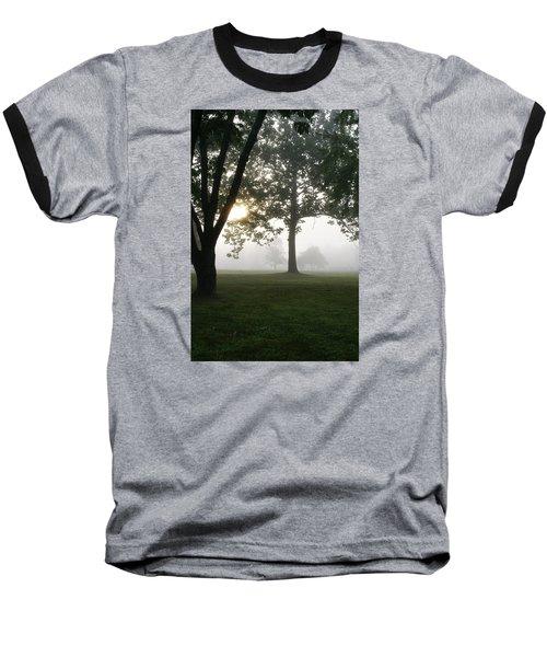 Morning Fog Baseball T-Shirt by Heidi Poulin