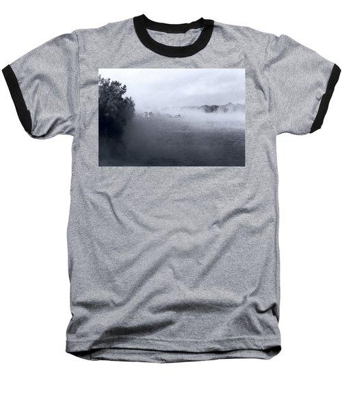 Baseball T-Shirt featuring the photograph Morning Fog - Hudson River by John Schneider