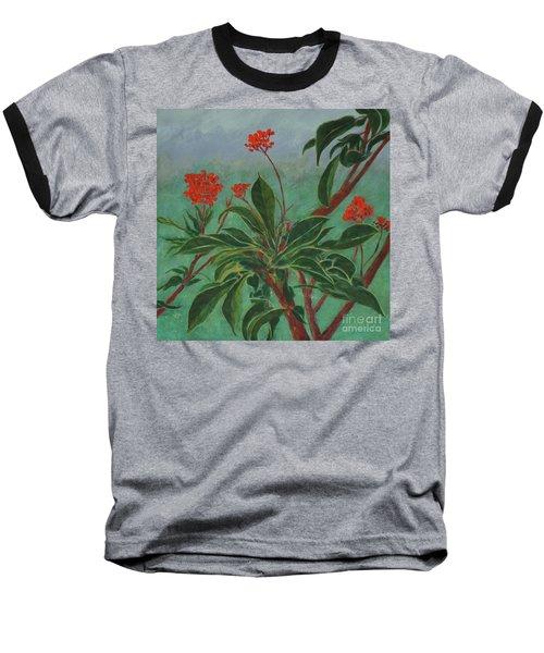 Morning Fog In The Garden Baseball T-Shirt