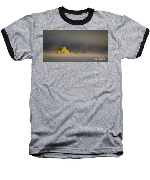 Morning Fog On Jackson Lake Grand Teton National Park  Baseball T-Shirt