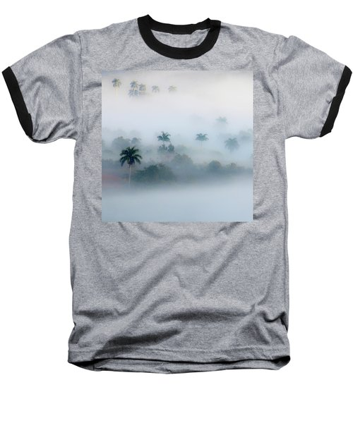 Morning Fog, Vinales Valley Baseball T-Shirt