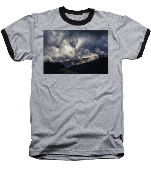 Morning Fog,mist And Cloud On The Moutain By The Sea In Californ Baseball T-Shirt